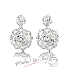 Náušnice rose s čirými krystaly swarovski elements
