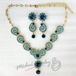 Ornament set modrý