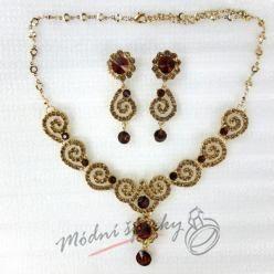 Ornament set zlatočervený