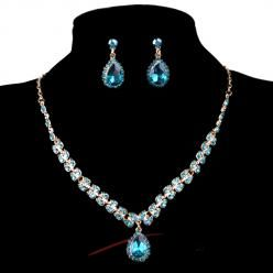 Sparkling crystal set modrý