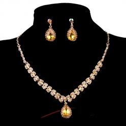 Sparkling crystal set zlatý