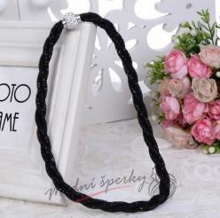 Třpytivý náhrdelník černý