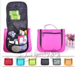 Kosmetické tašky s černým zipem