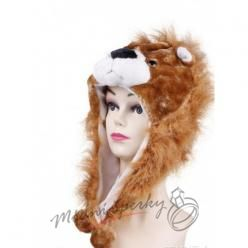Hřejivá čepice lev