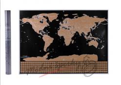 Stírací mapa s vlajkami