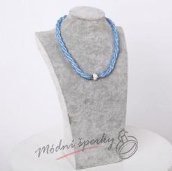 Třpytivý náhrdelník sv. modrý