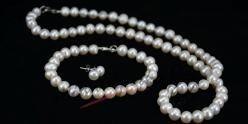 Set sladkovodních perel - bílý