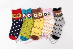 Veselé ponožky se sovami
