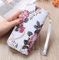 Dámská peněženka s květinami