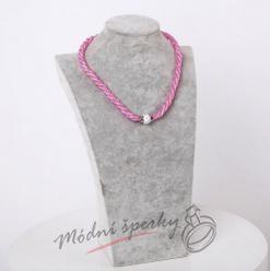 Třpytivý náhrdelník růžový