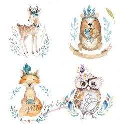 Nažehlovačky - lesní zvířátka