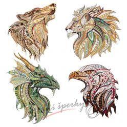 Nažehlovačky - fractal animals