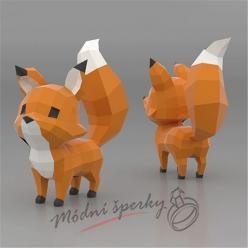 3D skládačka liška