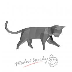 3D skládačka kočka šedá