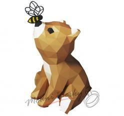 3D skládačka medvídek