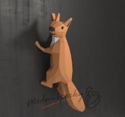 3D skládačka veverka