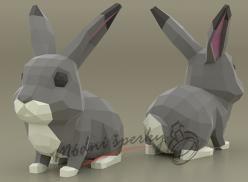 3D skládačka králíček