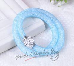 Třpytivý náramek světle modrý