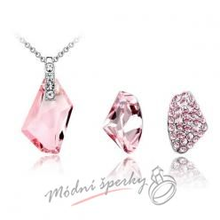 Set pink stones SWAROVSKI ELEMENTS