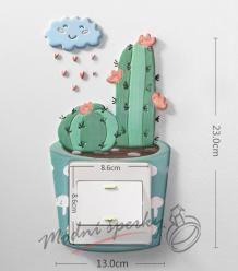 Dekorace k vypínači velká - kaktus 1