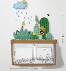 Dekorace k vypínači velká - dvojvypínač kaktusy