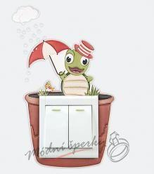 Dekorace k vypínači - želva