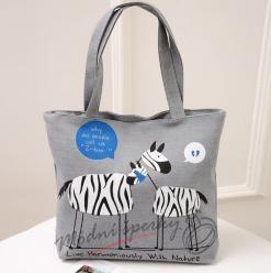 Plátěná taška - zebry