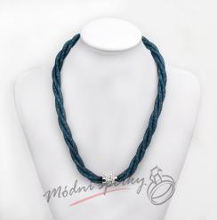 Třpytivý náhrdelník modrozelený